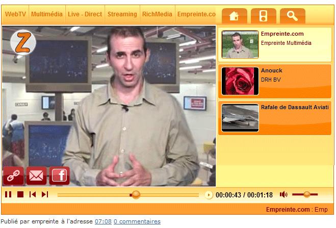 WebTV Light™ blog transport