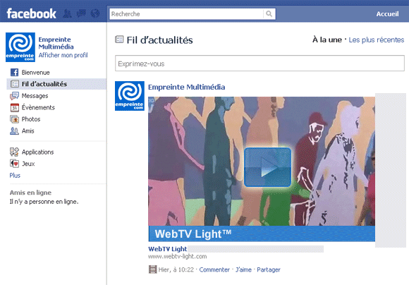 WebTV Light™ Facebook